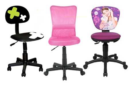 Des chaises de bureau pour filles et garçons